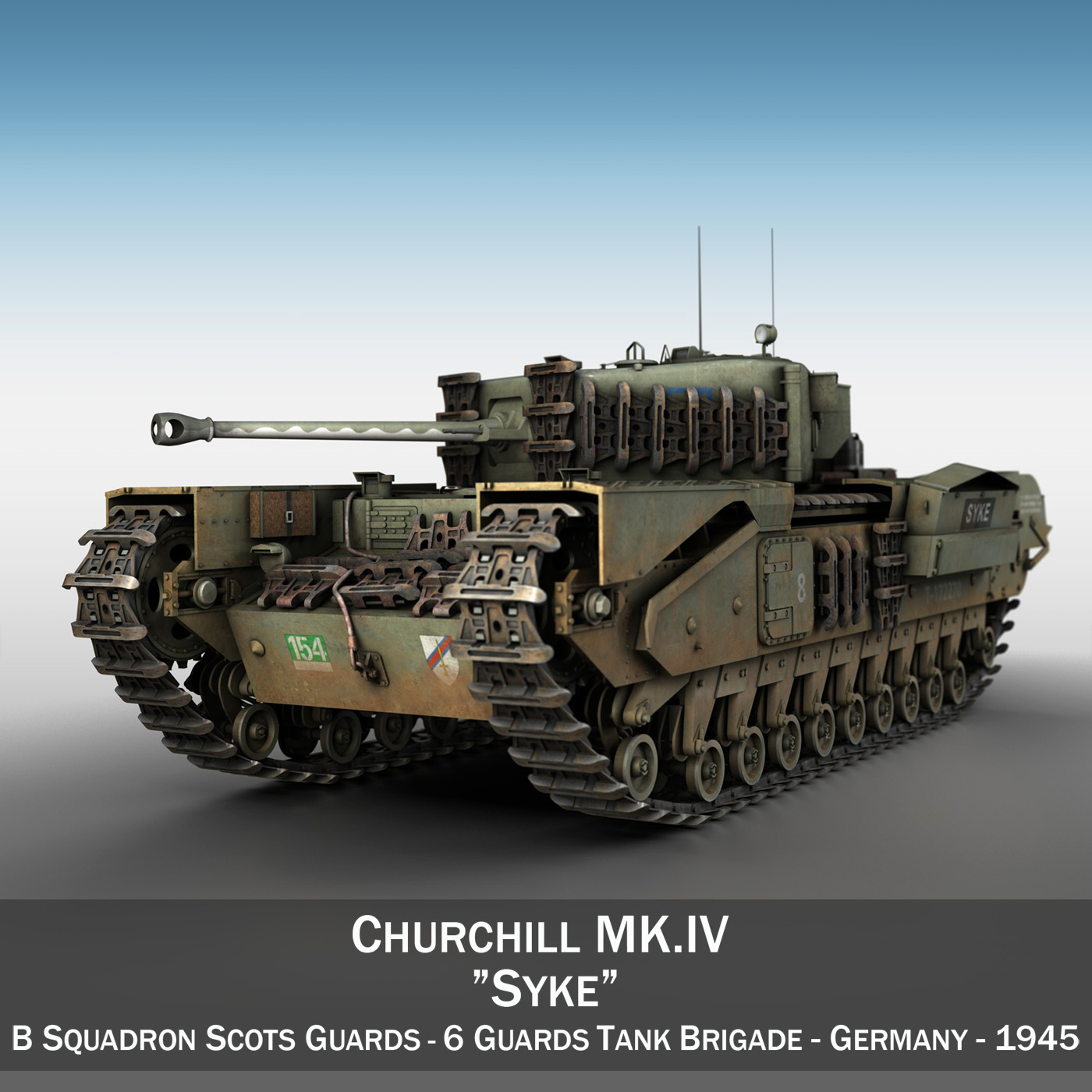 churchill mk iv - syke 3d model 3ds fbx c4ddua obj 272993