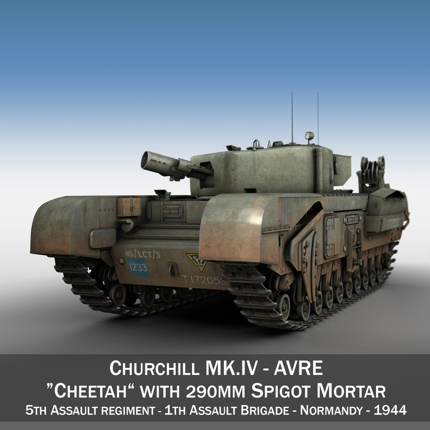 Churchill mk iv avre - cheetah model 3d 3ds fbx c4d lwo obj 273012