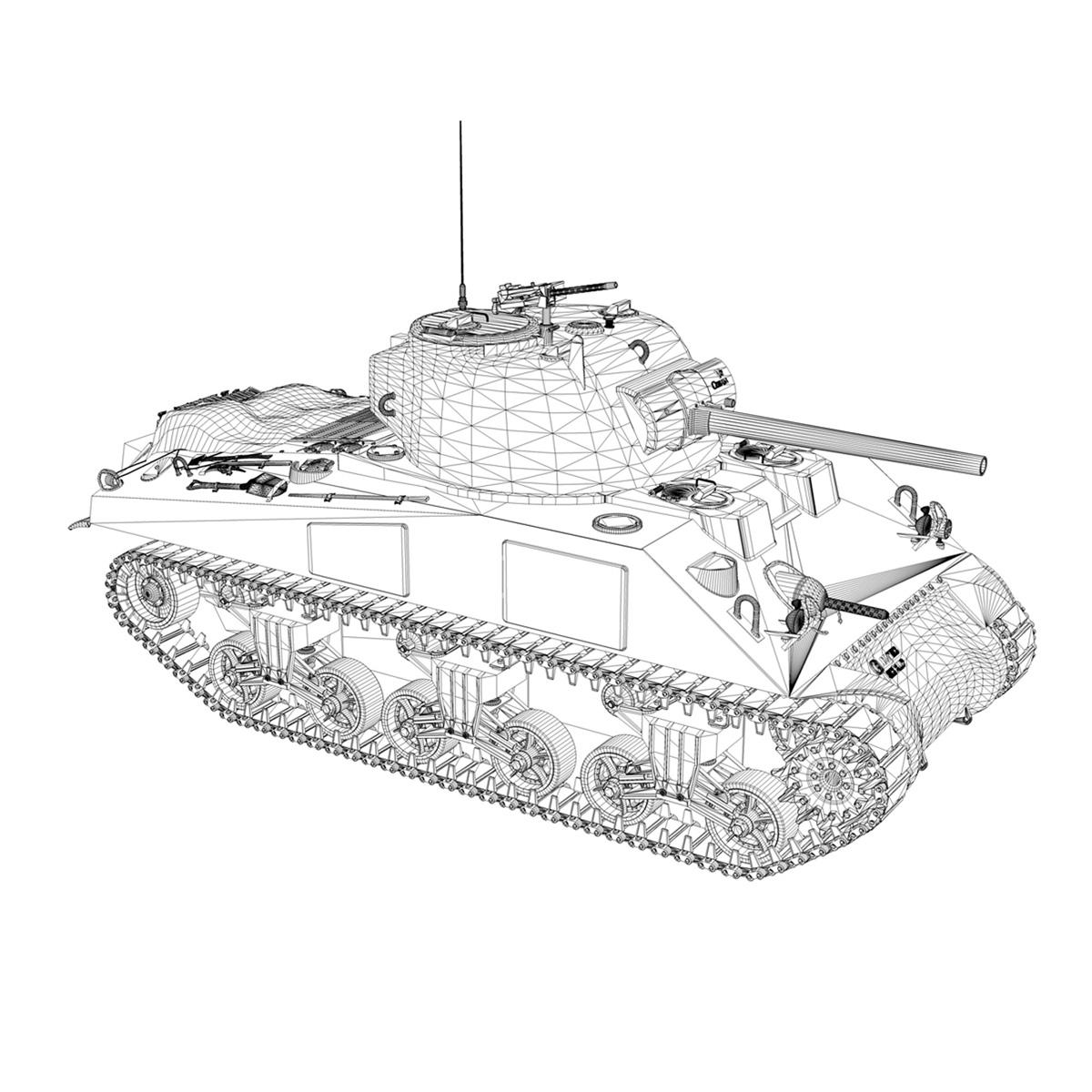 m4a2 sherman – brive la gaillarde 3d model 3ds fbx c4d lwo obj 273042