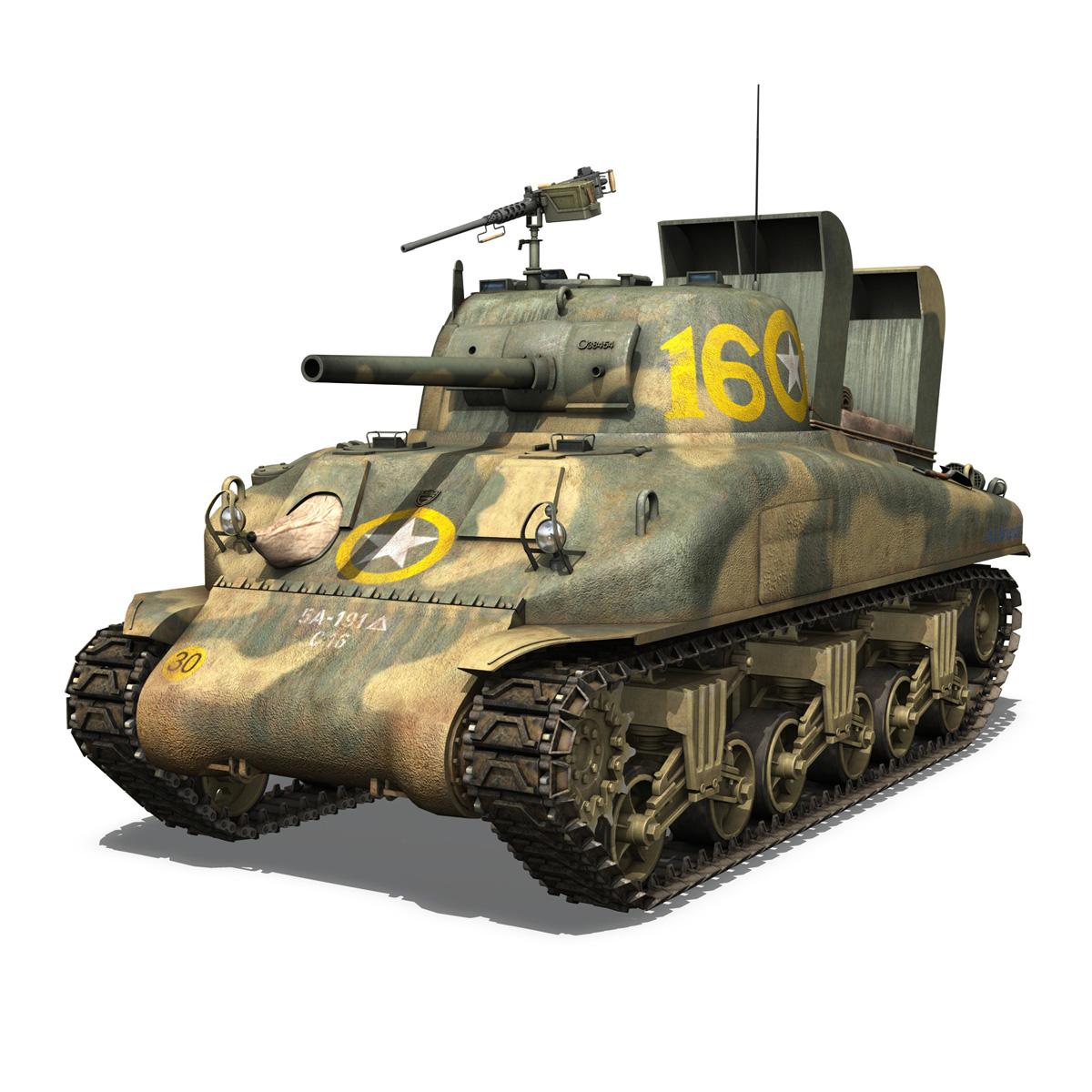M4A1 Sherman - 16 3d model 3ds fbx c4d lwo lws lw obj 273051