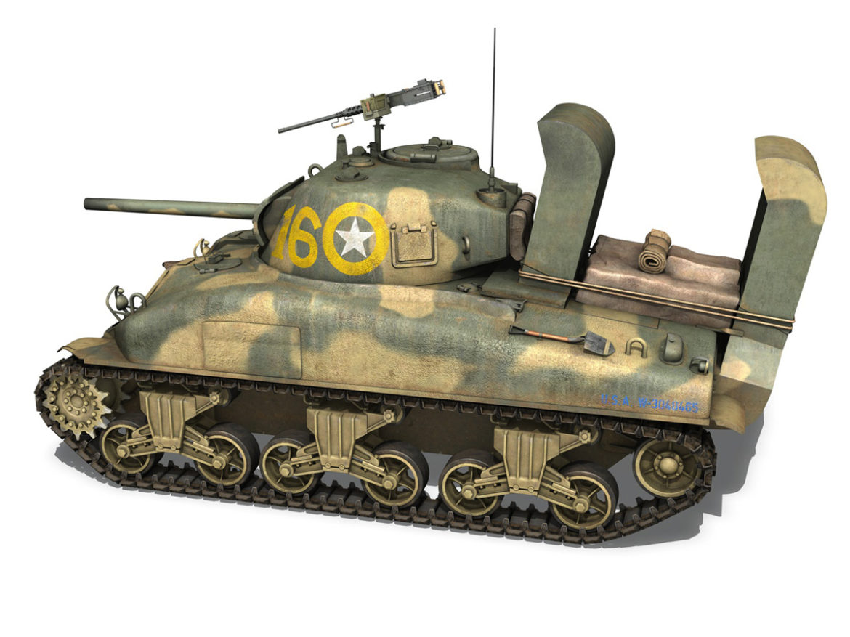 M4A1 Sherman - 16 3d model high poly virtual reality 3ds fbx c4d lwo lws lw obj