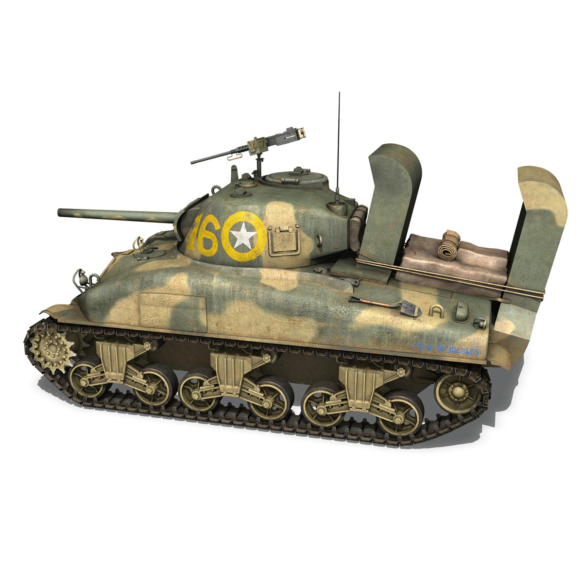 m4a1 sherman – 16 3d model 3ds fbx c4d lwo obj 273053