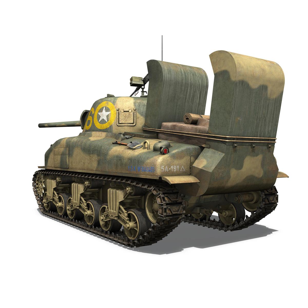 M4A1 Sherman - 16 3d model 3ds fbx c4d lwo lws lw obj 273054