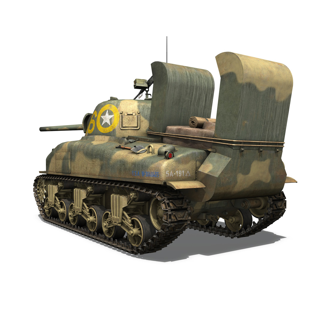 m4a1 sherman – 16 3d model 3ds fbx c4d lwo obj 273054