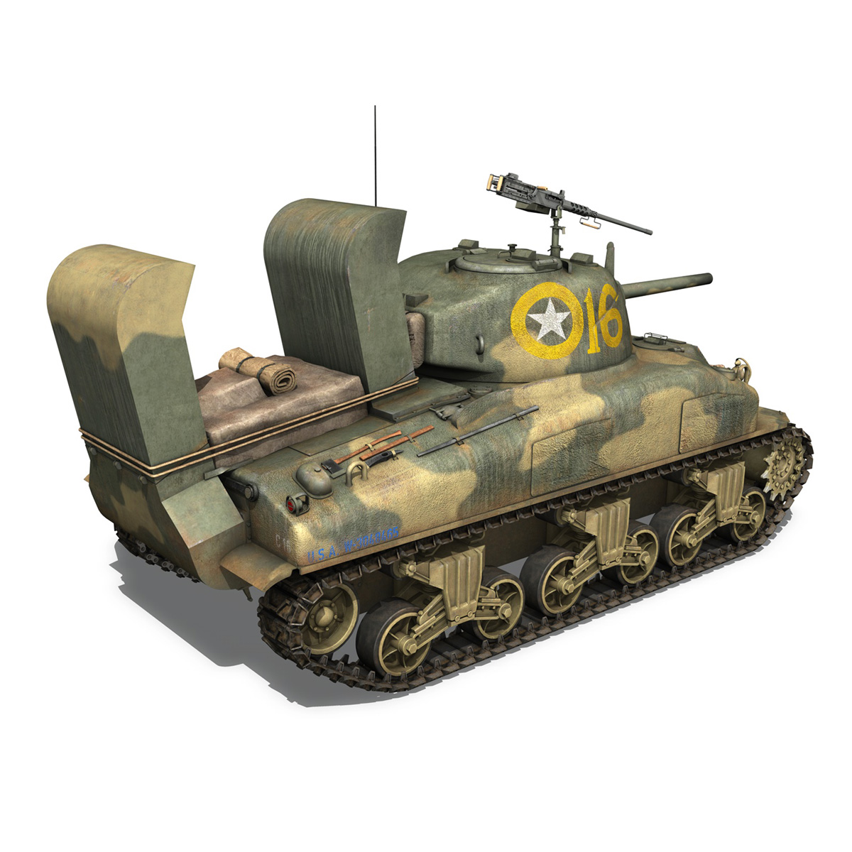 m4a1 sherman – 16 3d model 3ds fbx c4d lwo obj 273055