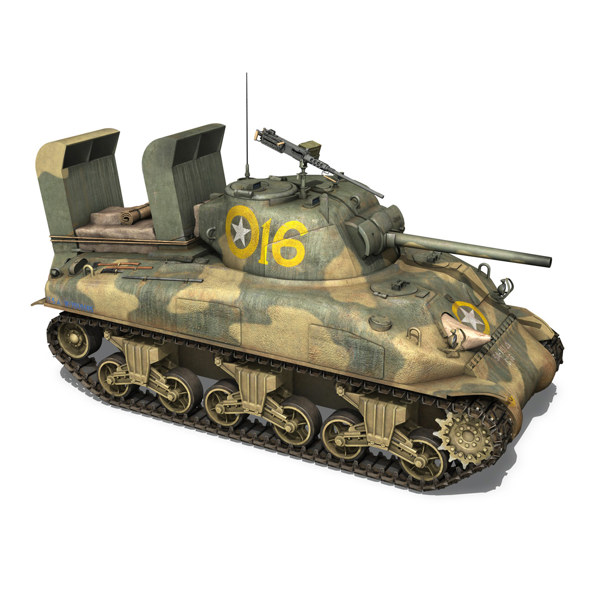 m4a1 sherman – 16 3d model 3ds fbx c4d lwo obj 273056