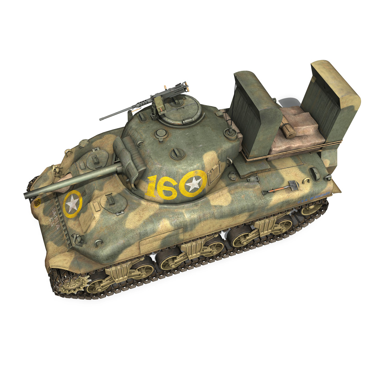 m4a1 sherman – 16 3d model 3ds fbx c4d lwo obj 273058
