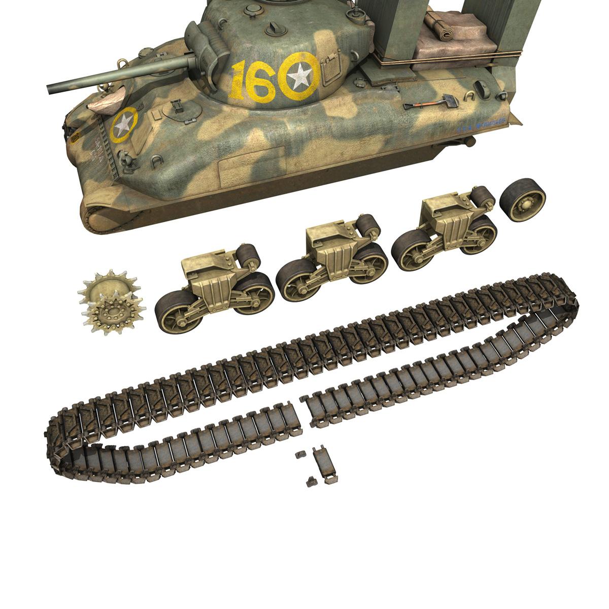 M4A1 Sherman - 16 3d model 3ds fbx c4d lwo lws lw obj 273059