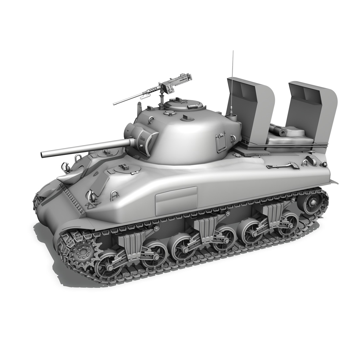 m4a1 sherman – 16 3d model 3ds fbx c4d lwo obj 273060