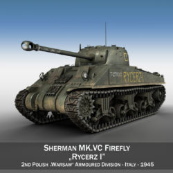 Sherman MK VC Firefly - Rycerz I 3d model high poly virtual reality 3ds fbx c4d lwo lws lw obj