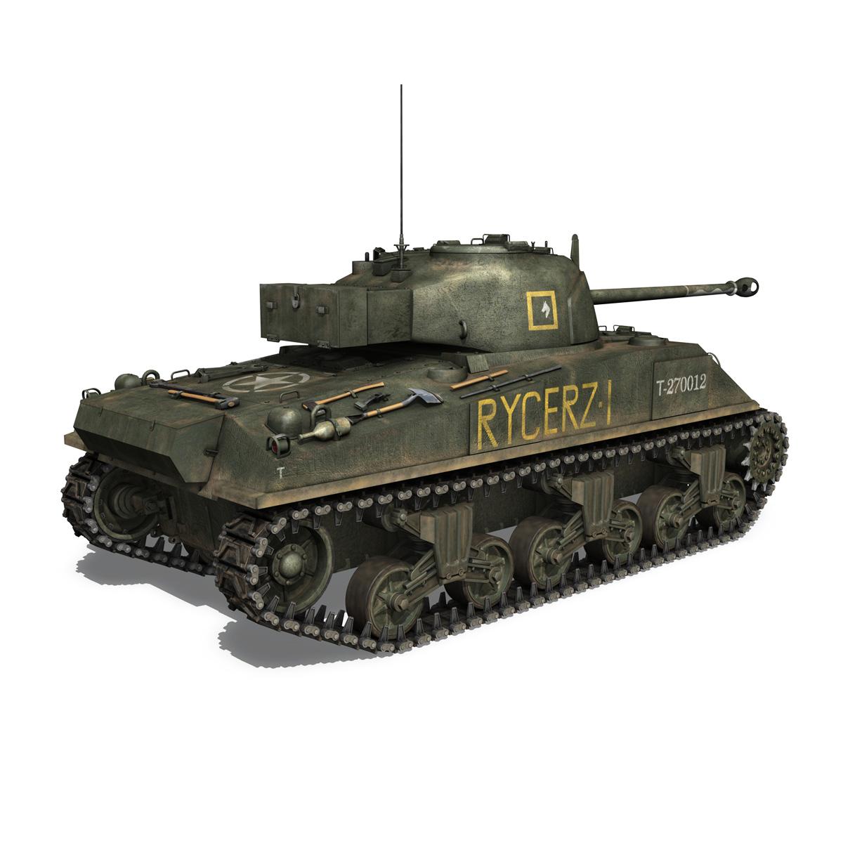 sherman mk vc firefly – rycerz i 3d model 3ds fbx c4d lwo obj 273073