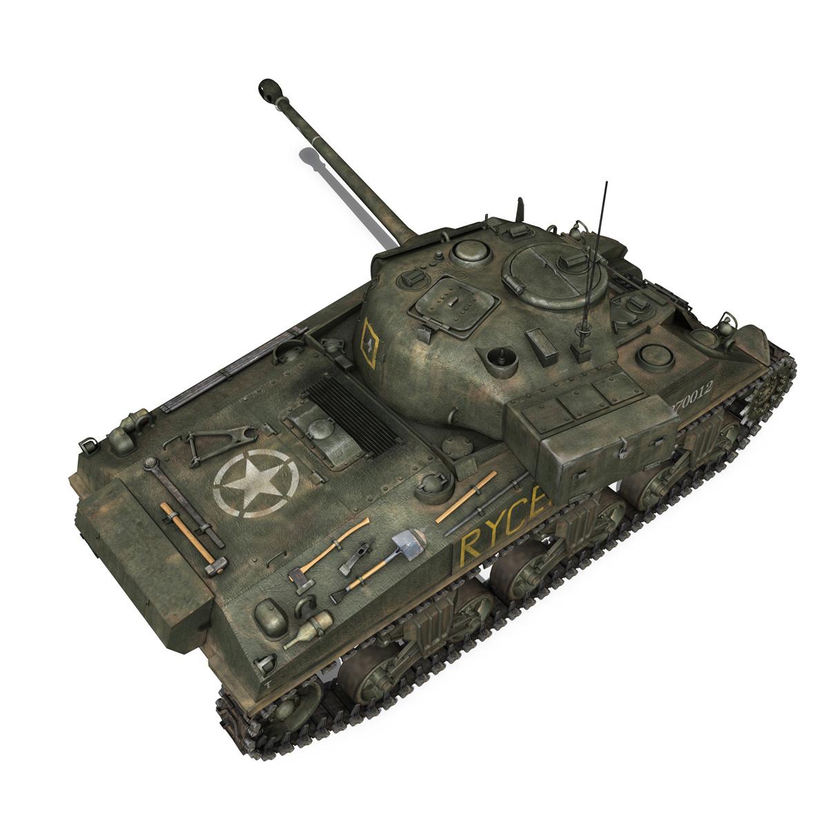 sherman mk vc firefly – rycerz i 3d model 3ds fbx c4d lwo obj 273074