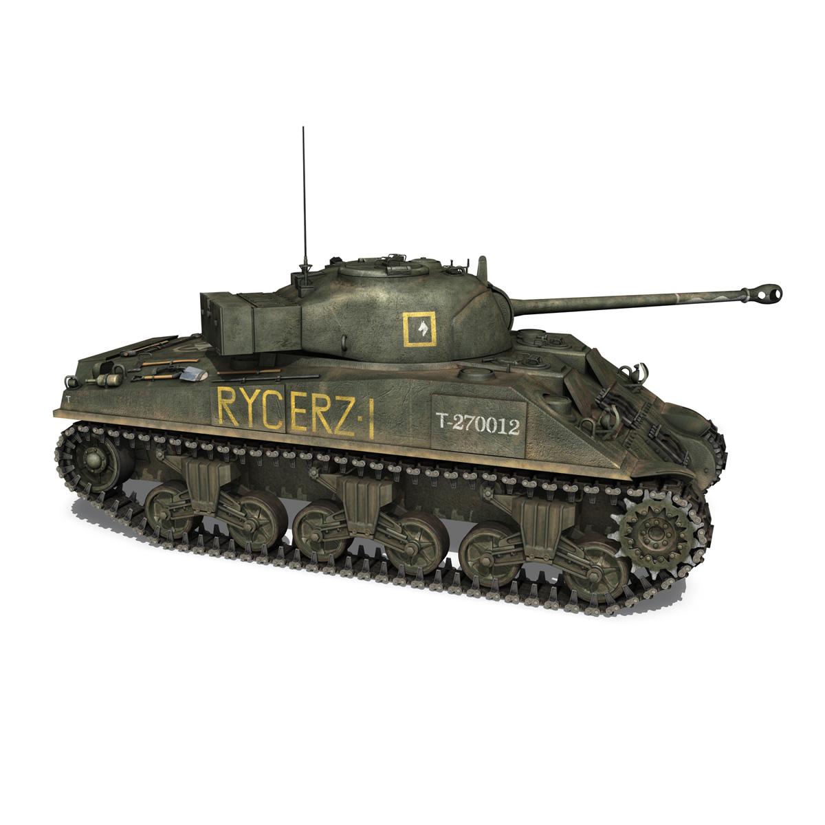 sherman mk vc firefly - rycerz i 3d modelis 3ds fbx c4d lwo obj 273075