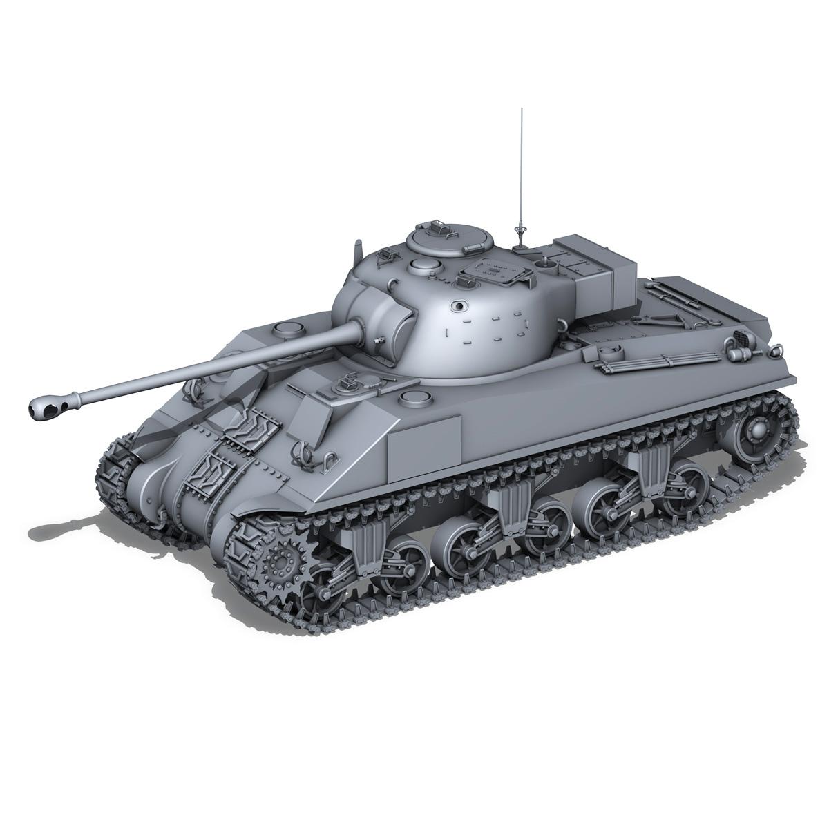 sherman mk vc firefly – rycerz i 3d model 3ds fbx c4d lwo obj 273081