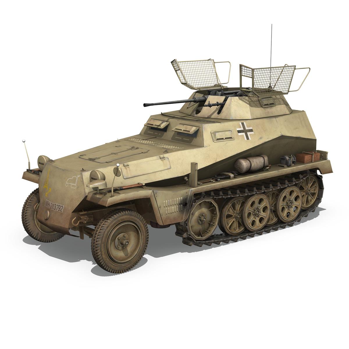 sd.kfz 250 – reconnaissance halftruck – 23 pzdiv 3d model 3ds fbx c4d lwo obj 273092
