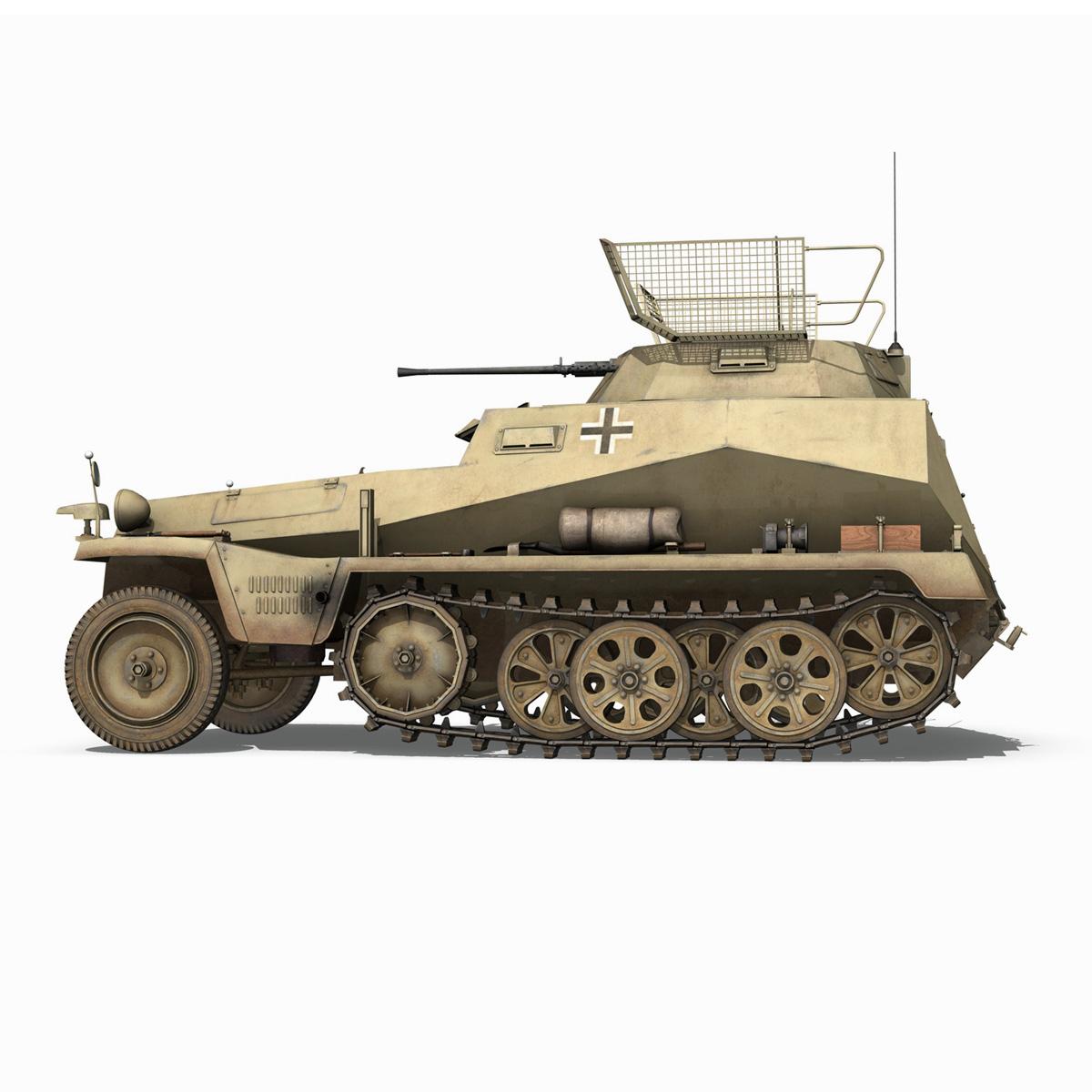 sd.kfz 250 – reconnaissance halftruck – 23 pzdiv 3d model 3ds fbx c4d lwo obj 273093
