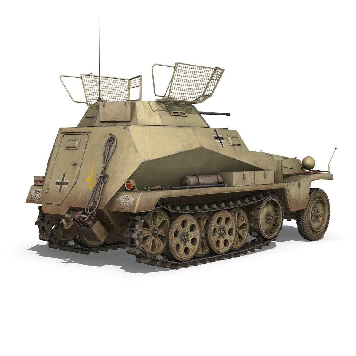 sd.kfz 250 – reconnaissance halftruck – 23 pzdiv 3d model 3ds fbx c4d lwo obj 273095