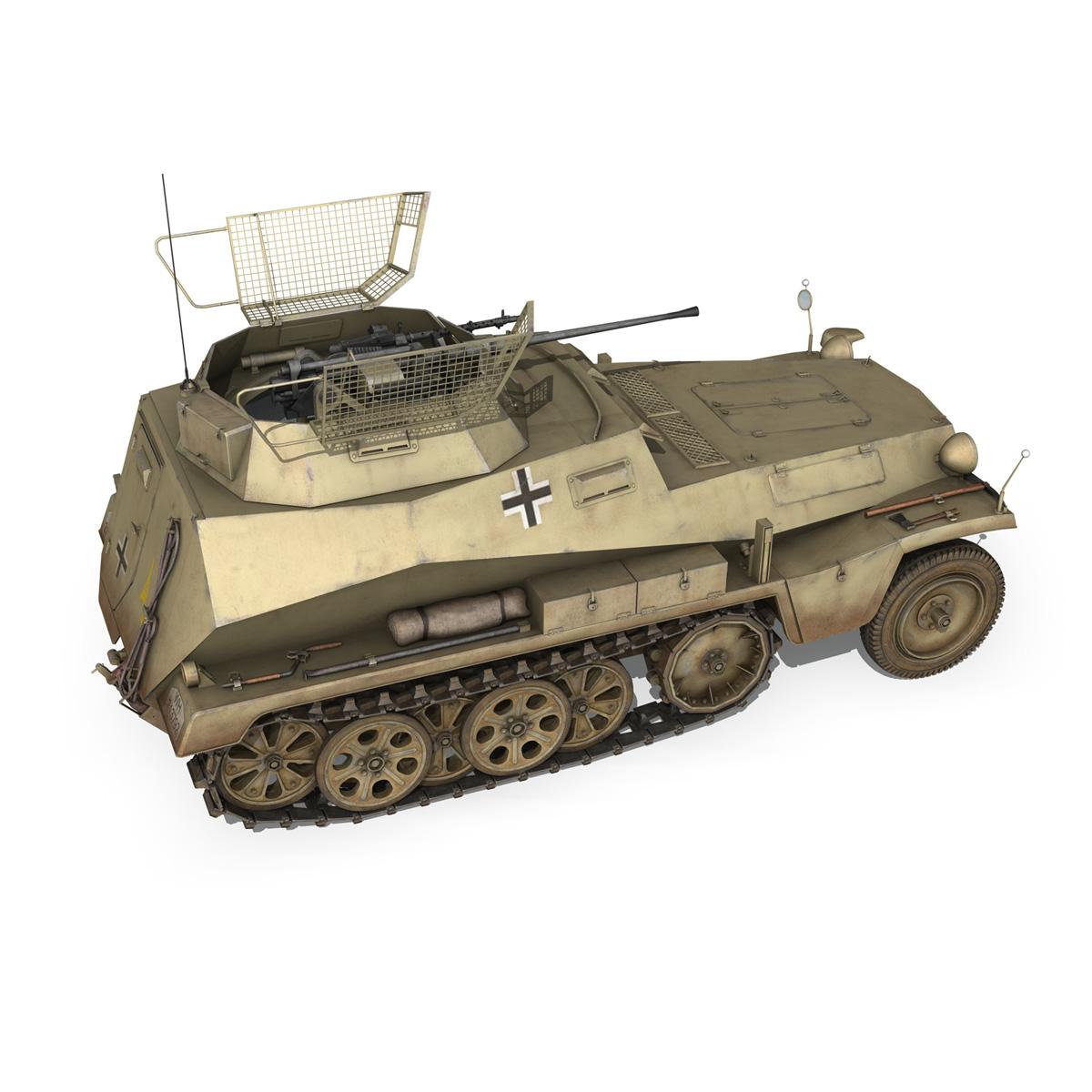 sd.kfz 250 – reconnaissance halftruck – 23 pzdiv 3d model 3ds fbx c4d lwo obj 273096