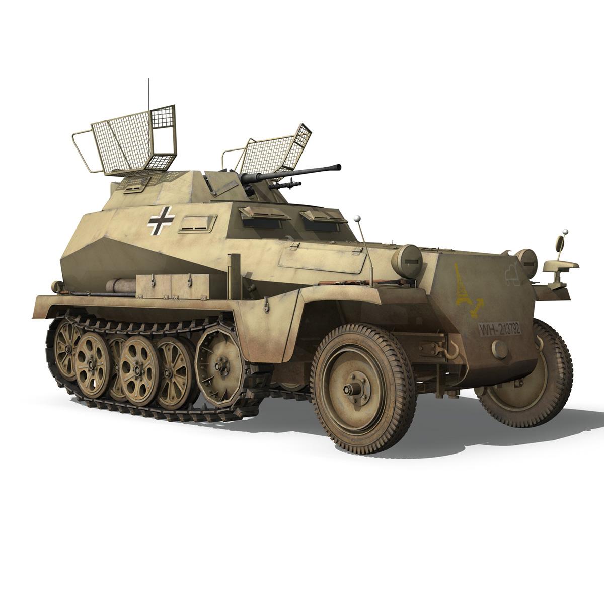 sd.kfz 250 – reconnaissance halftruck – 23 pzdiv 3d model 3ds fbx c4d lwo obj 273097