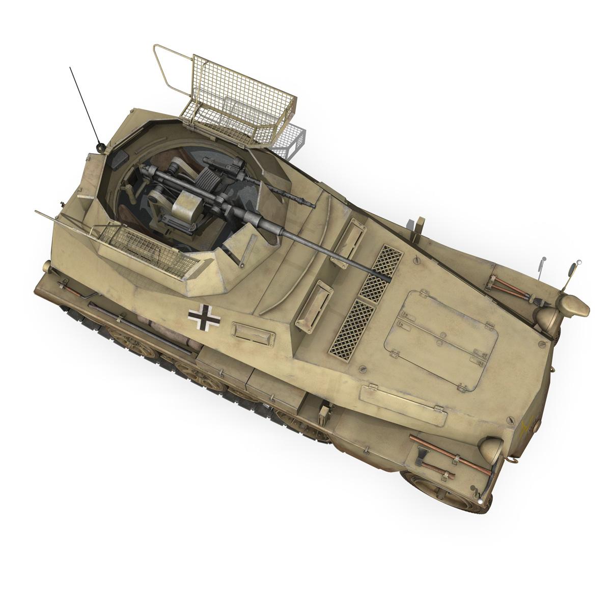 sd.kfz 250 – reconnaissance halftruck – 23 pzdiv 3d model 3ds fbx c4d lwo obj 273098