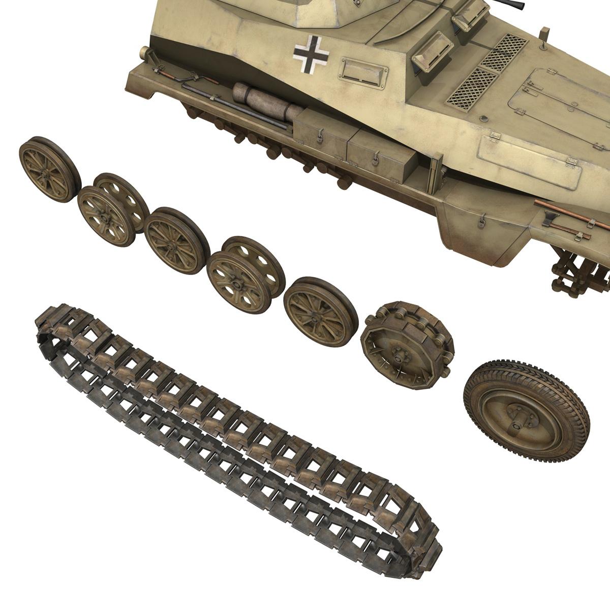 sd.kfz 250 – reconnaissance halftruck – 23 pzdiv 3d model 3ds fbx c4d lwo obj 273099