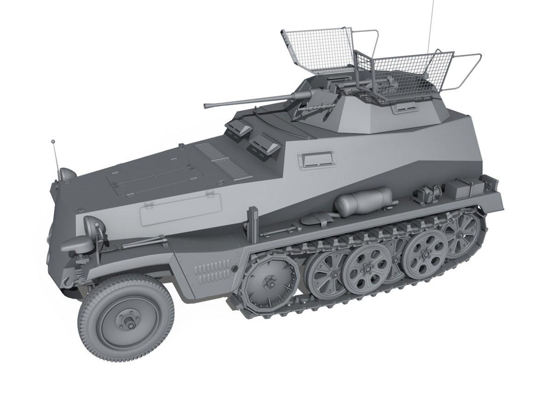 SD.KFZ 250 - Reconnaissance Halftruck - 23 PzDiv 3d model high poly virtual reality 3ds fbx c4d lwo lws lw obj