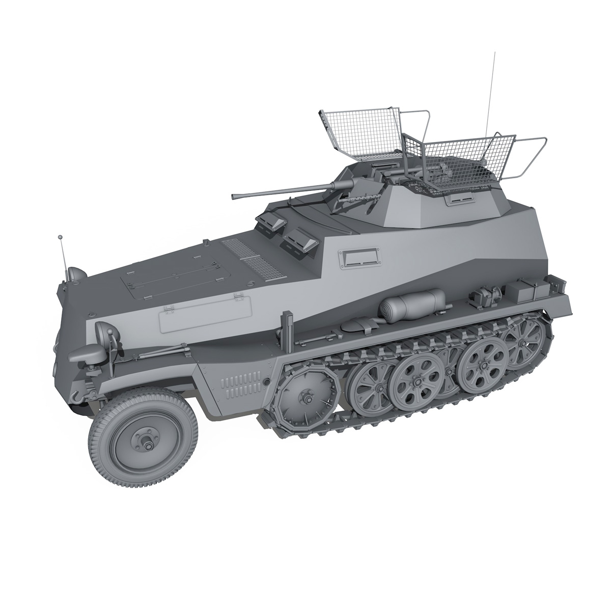 SD.KFZ 250 - Reconnaissance Halftruck - 23 PzDiv 3d model 3ds fbx c4d lwo lws lw obj 273100