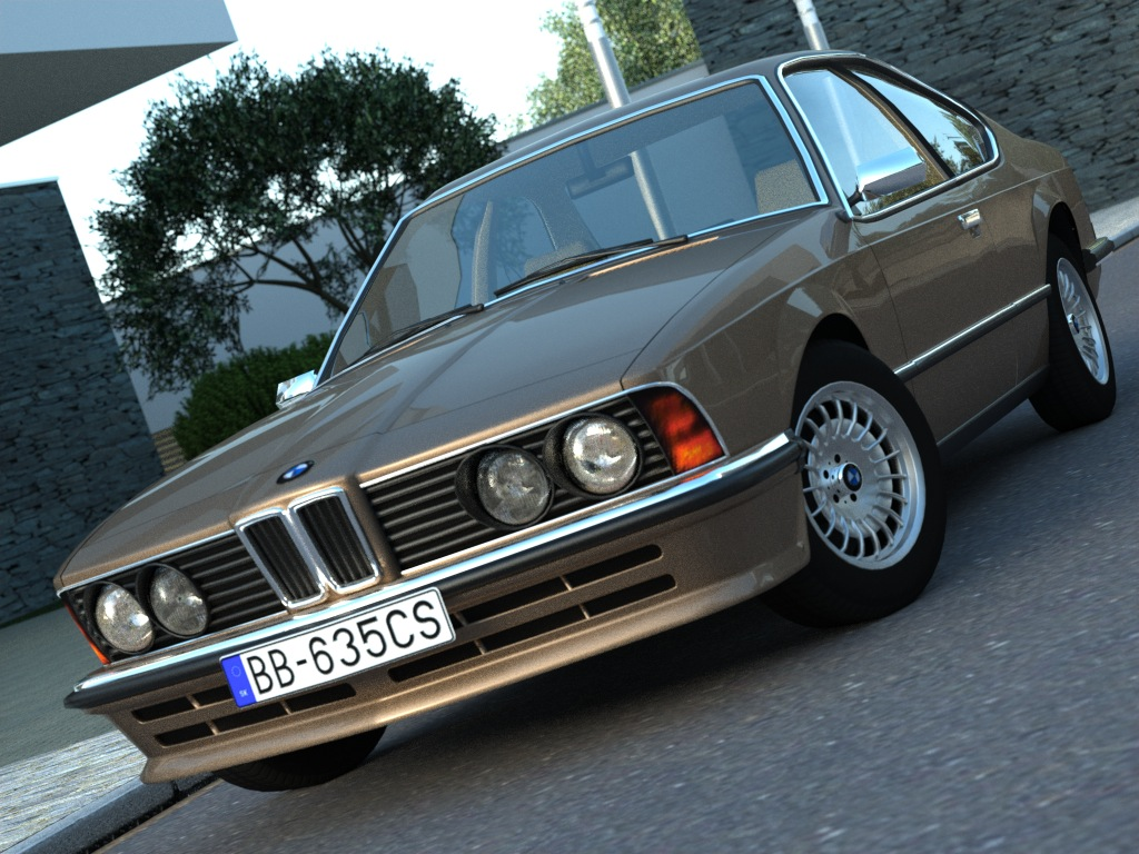 bmw e24 6-serija coupe (1986) 3d model 3ds max fbx c4d obj 273123