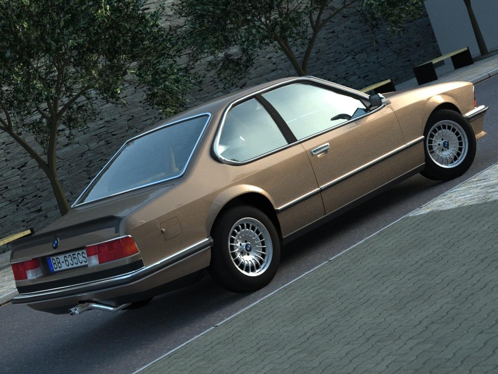 bmw e24 6-series coupe (1986) 3d model 3ds max fbx c4d obj 273124