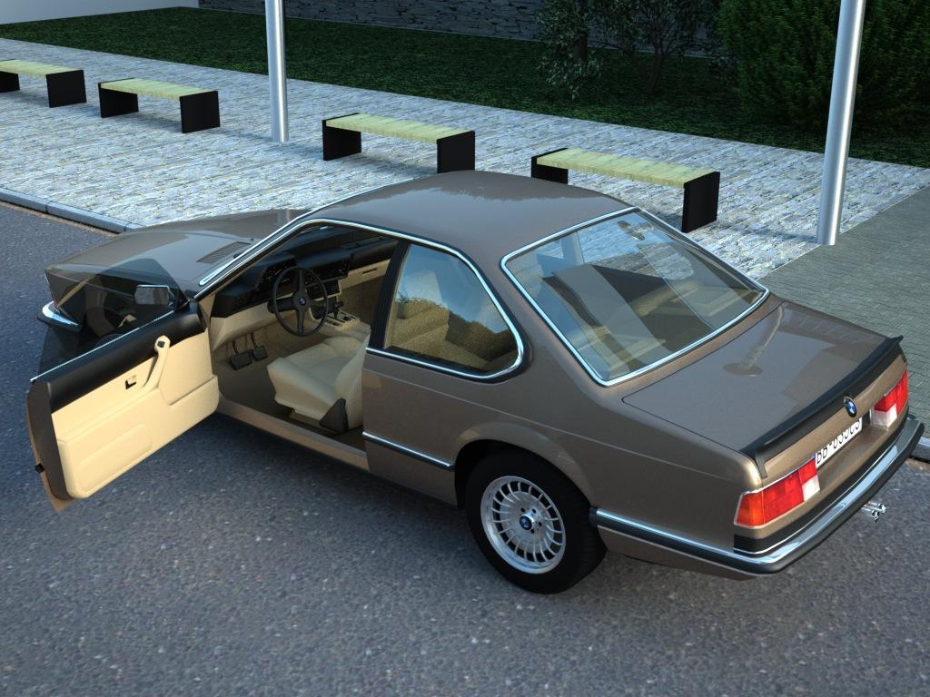 bmw e24 6-series coupe (1986) 3d model 3ds max fbx c4d obj 273125