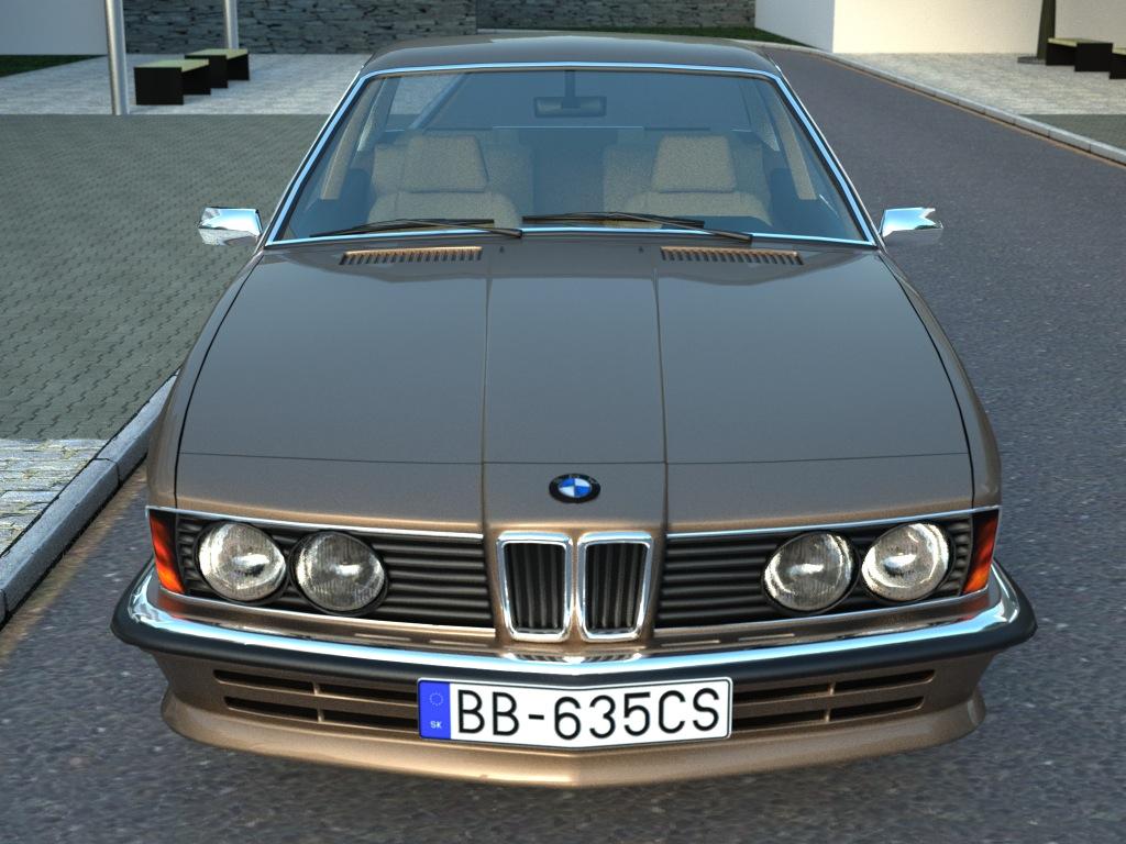 bmw e24 6-series coupe (1986) 3d model 3ds max fbx c4d obj 273126