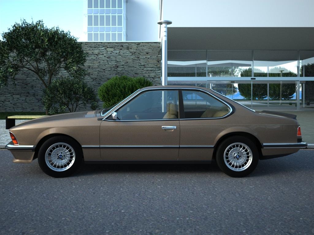 bmw e24 6-series coupe (1986) 3d model 3ds max fbx c4d obj 273127