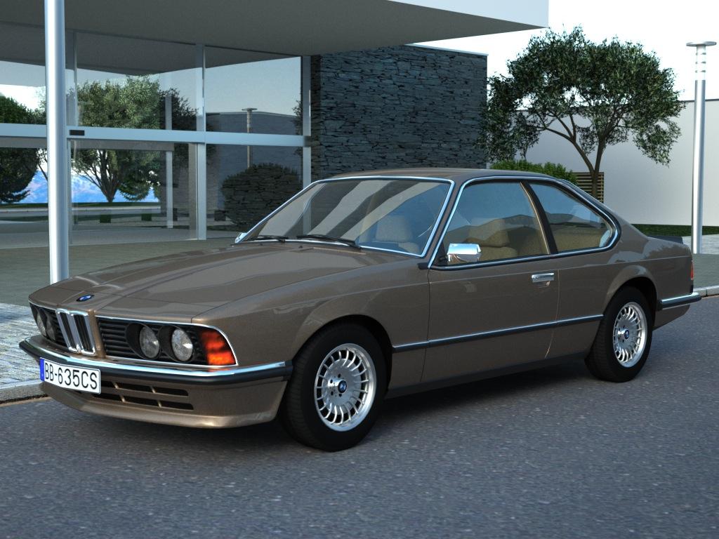 bmw e24 6-series coupe (1986) 3d model 3ds max fbx c4d obj 273128