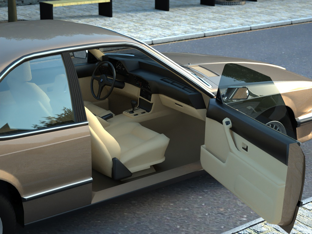 bmw e24 6-series coupe (1986) 3d model 3ds max fbx c4d obj 273129