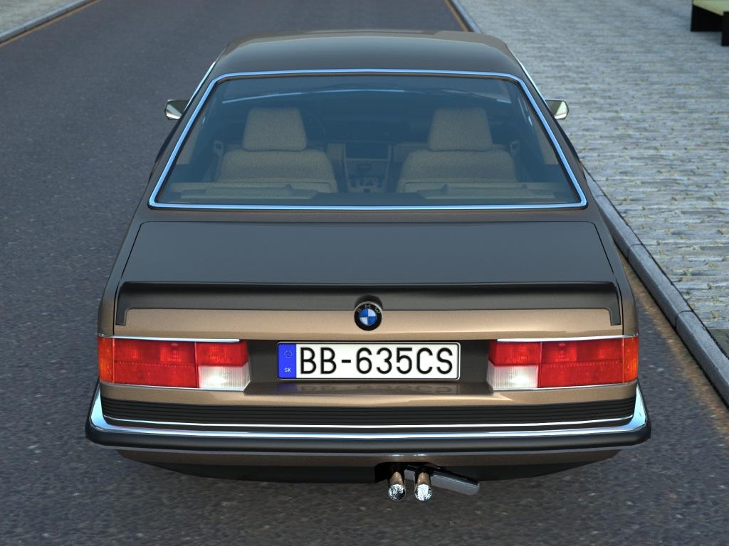 bmw e24 6-series coupe (1986) 3d model 3ds max fbx c4d obj 273130