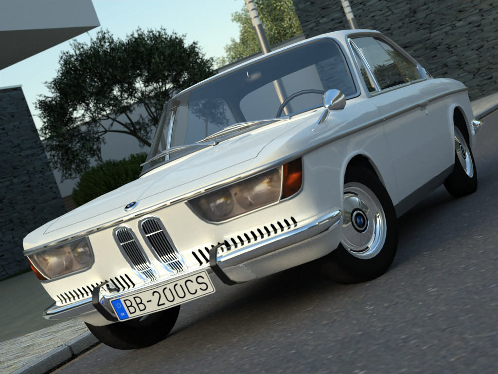 coupe 2000cs (1967) 3d model 3ds max fbx c4d obj 273135