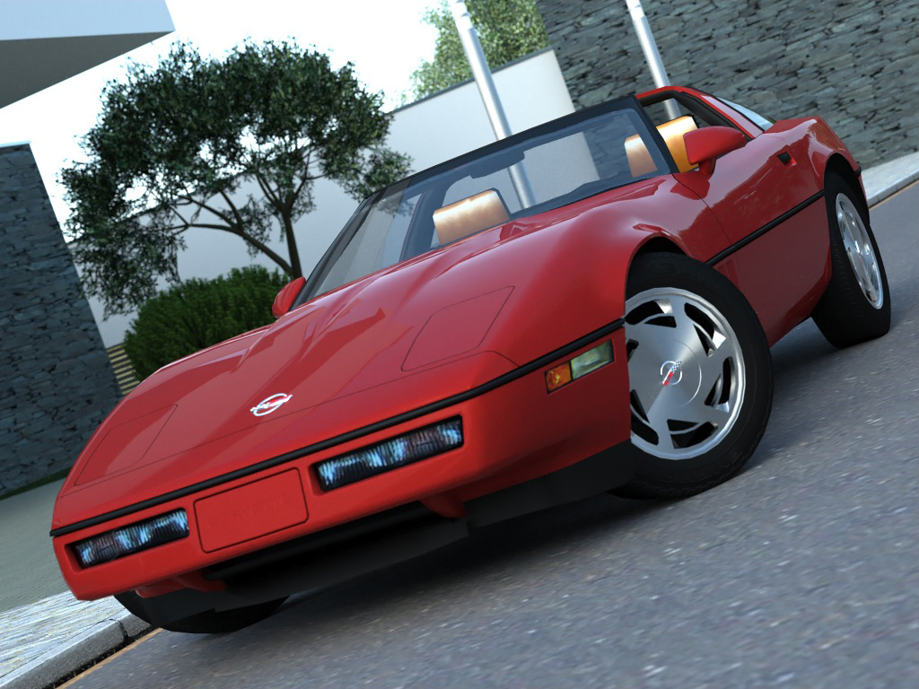 corvette coupe (1985) 3d model 3ds max fbx c4d obj 273147