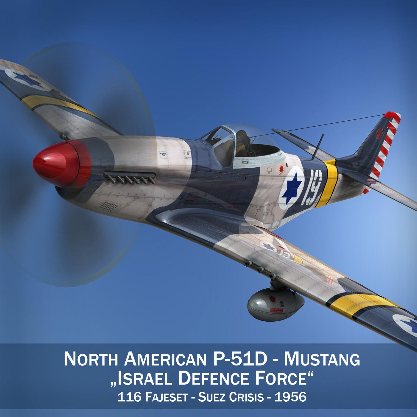 north american p-51d mustang – idf 3d model fbx c4d lwo obj 273305