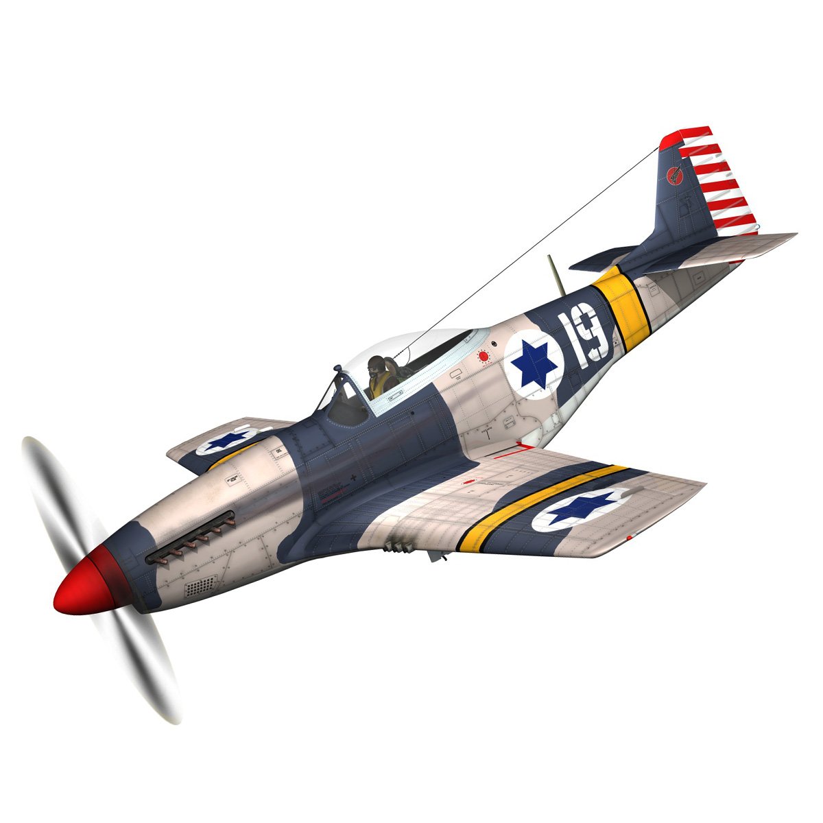 North American P-51D Mustang - IDF 3d model fbx c4d lwo lws lw obj 273306