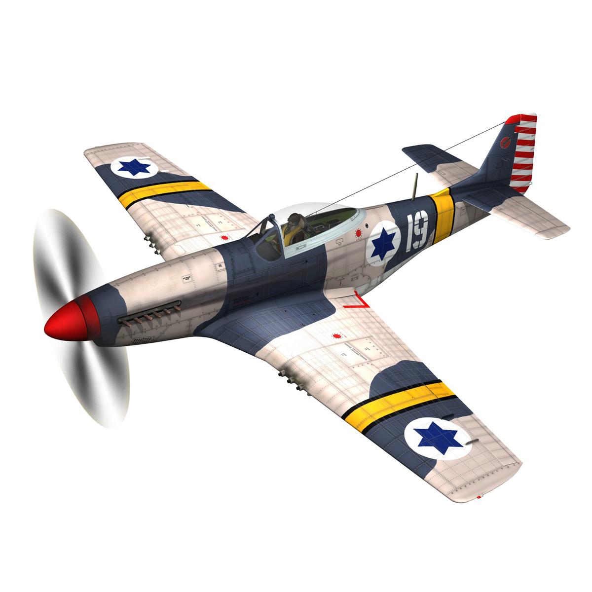 North American P-51D Mustang - IDF 3d model fbx c4d lwo lws lw obj 273307
