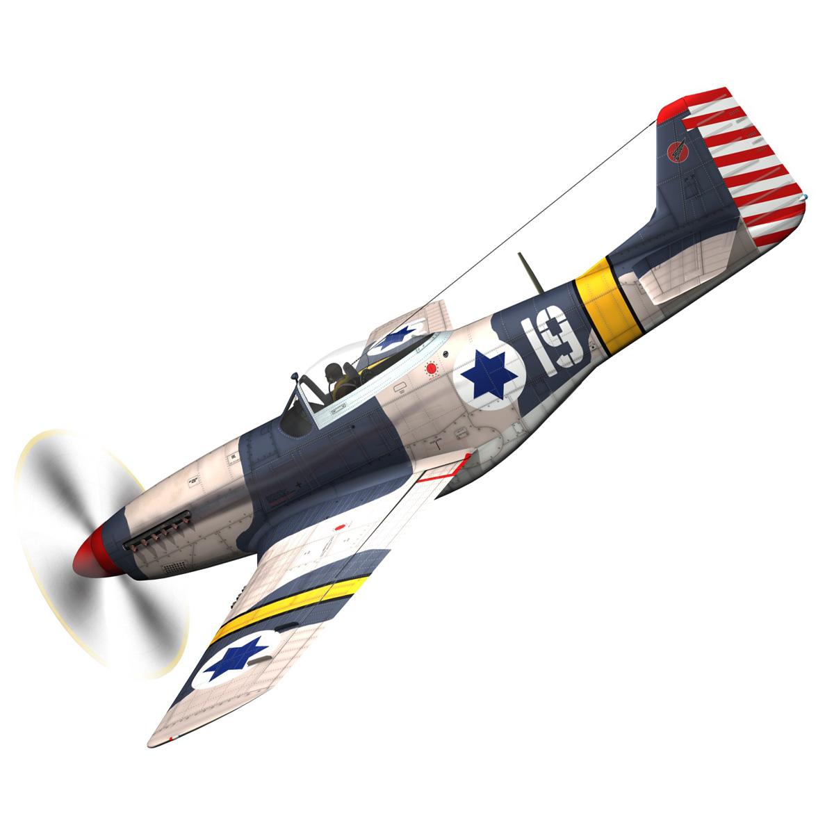 North American P-51D Mustang - IDF 3d model fbx c4d lwo lws lw obj 273308