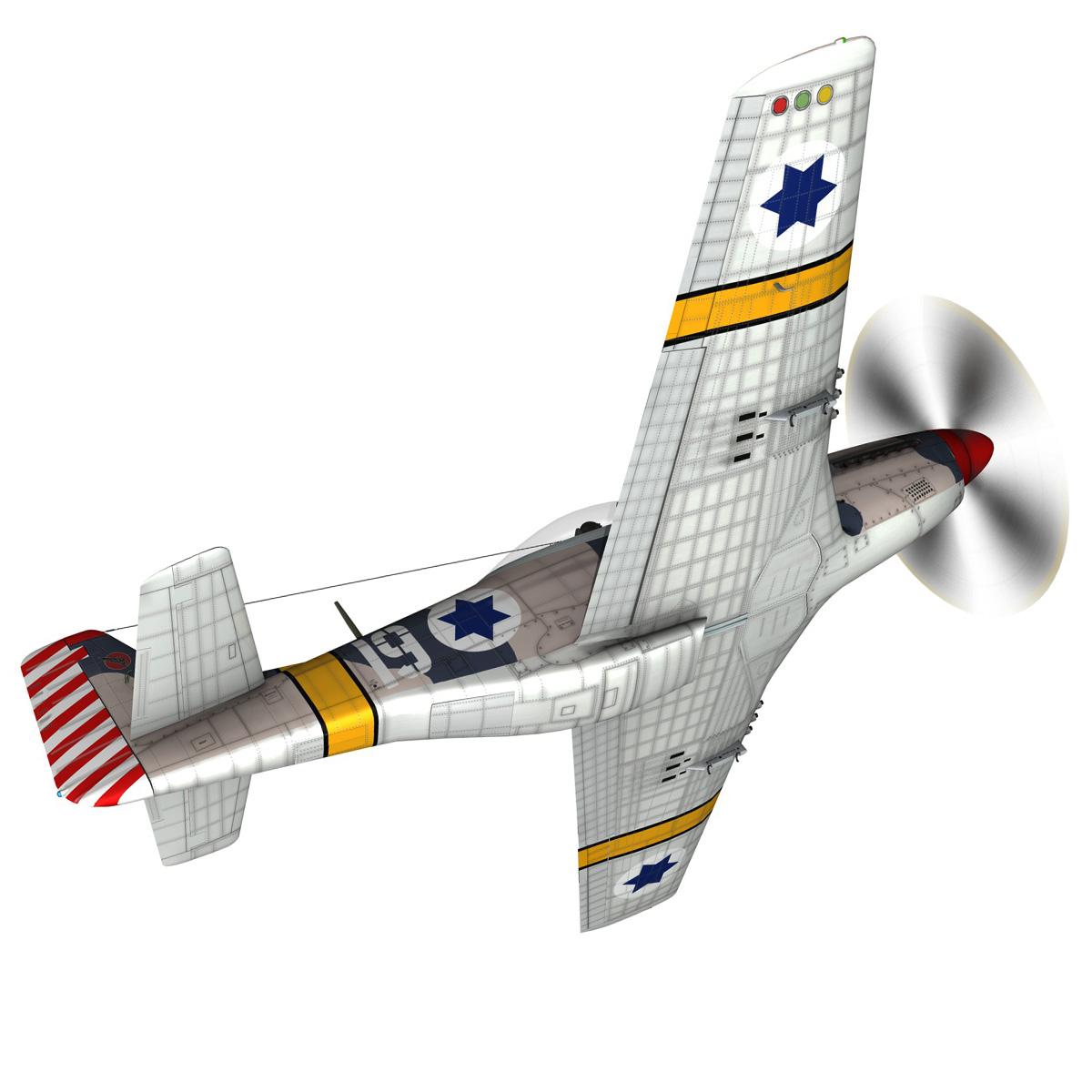 North American P-51D Mustang - IDF 3d model fbx c4d lwo lws lw obj 273310