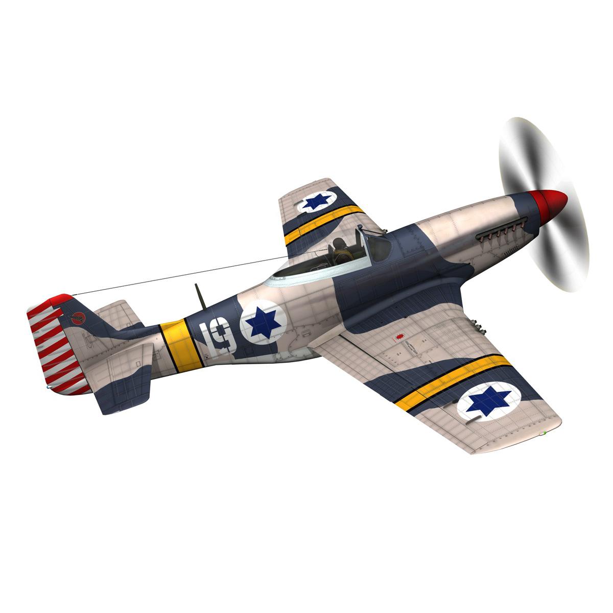 North American P-51D Mustang - IDF 3d model fbx c4d lwo lws lw obj 273311
