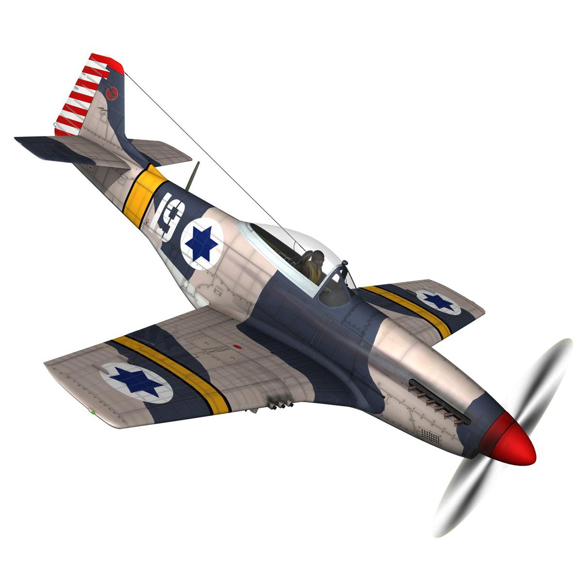 North American P-51D Mustang - IDF 3d model fbx c4d lwo lws lw obj 273312