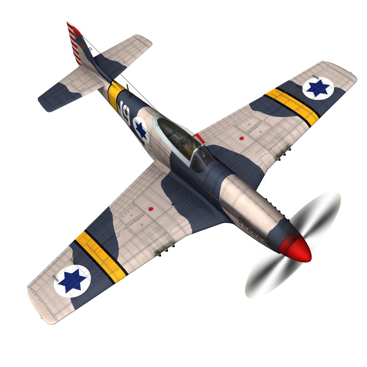 North American P-51D Mustang - IDF 3d model fbx c4d lwo lws lw obj 273313
