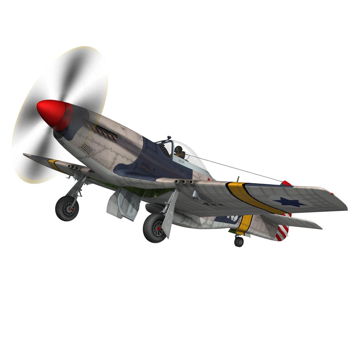 North American P-51D Mustang - IDF 3d model fbx c4d lwo lws lw obj 273314