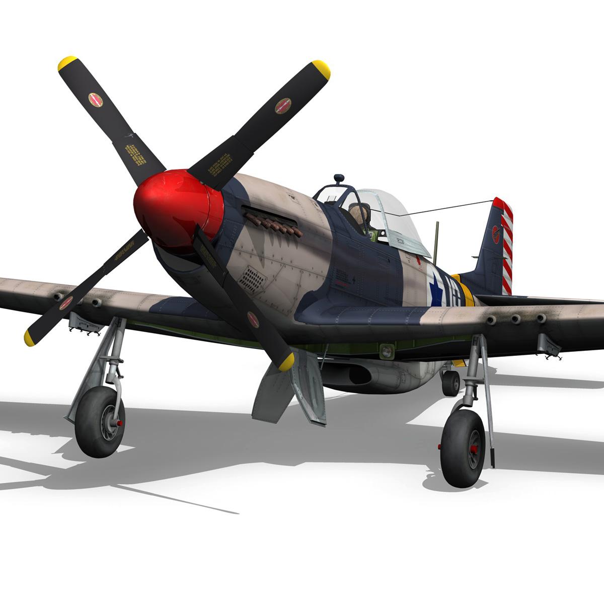 North American P-51D Mustang - IDF 3d model fbx c4d lwo lws lw obj 273315