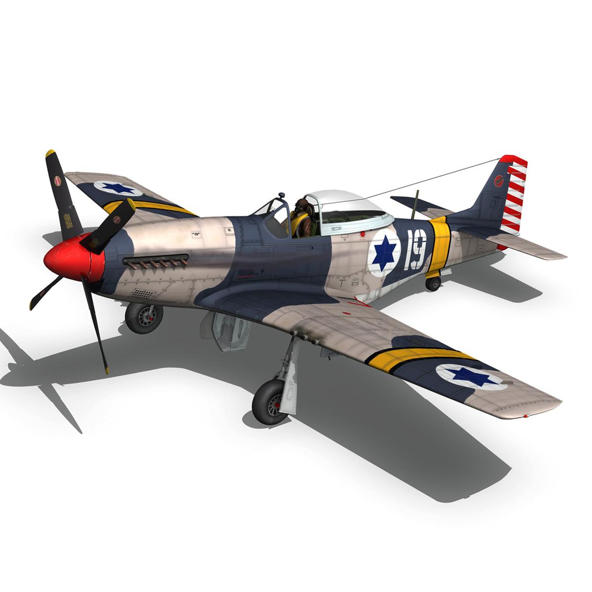 North American P-51D Mustang - IDF 3d model fbx c4d lwo lws lw obj 273316