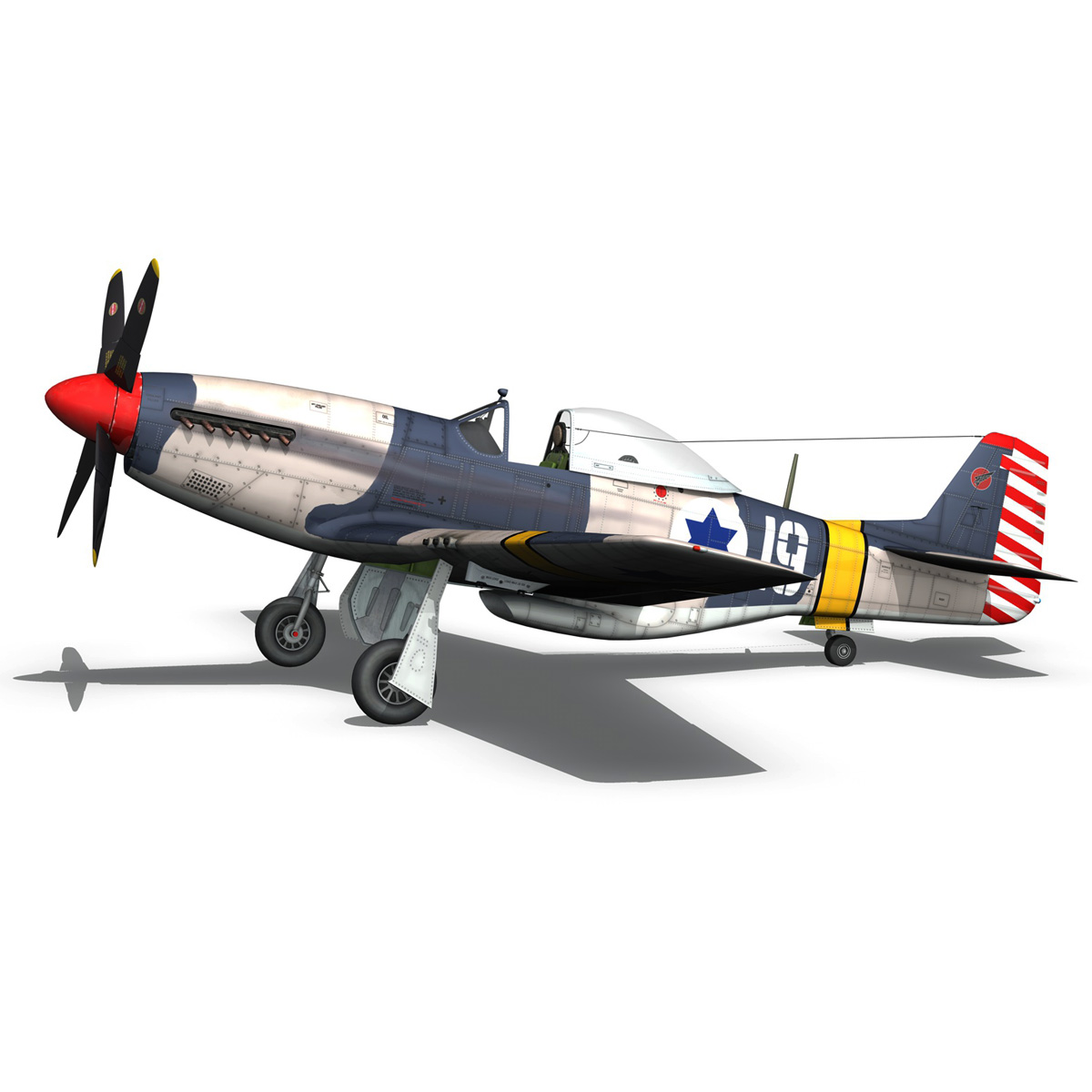 North American P-51D Mustang - IDF 3d model fbx c4d lwo lws lw obj 273317