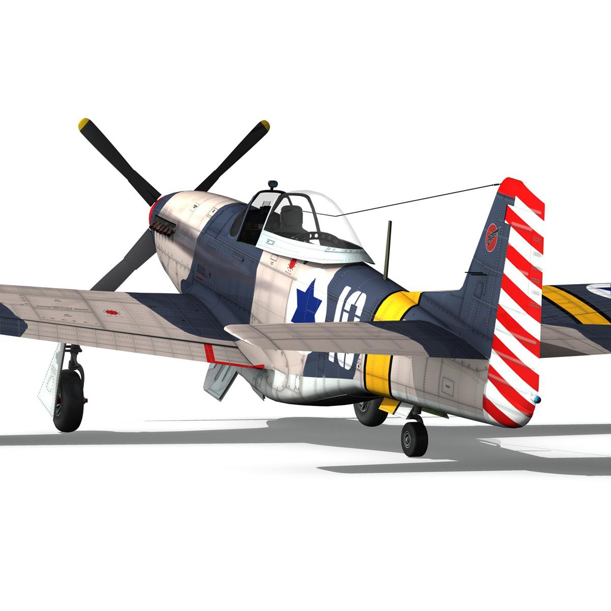 North American P-51D Mustang - IDF 3d model fbx c4d lwo lws lw obj 273318